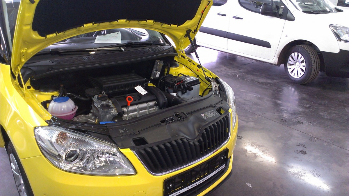 A-ENGINEERING Упор капота для Skoda Fabia и Roomster, 2007-2014 (1 амортизатор)